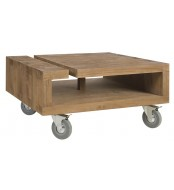 Kavna mizica Lekk na koleščkih kvadratna